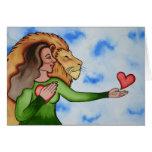 Discurso del corazón con amor y valor tarjeton