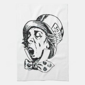 Discurso enojado del sombrerero toalla de mano