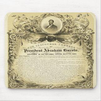 Discurso inaugural Abraham Lincoln del 4 de marzo Alfombrilla De Ratones