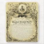 Discurso inaugural Abraham Lincoln del 4 de marzo Tapetes De Ratón