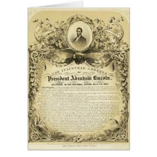 Discurso inaugural Abraham Lincoln del 4 de marzo Tarjeta De Felicitación