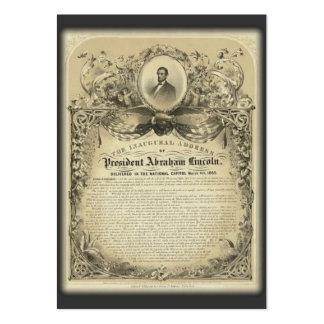 Discurso inaugural de Lincoln del abe del Tarjetas De Visita Grandes