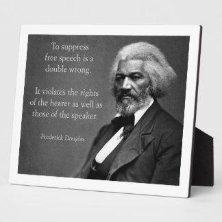 Discurso libre de Frederick Douglass Placas Con Foto