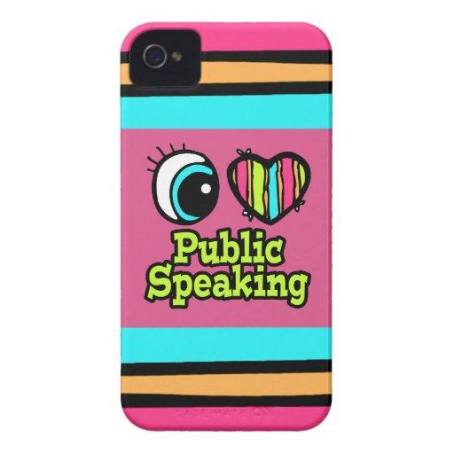 Discurso público del ojo del amor brillante del co Case-Mate iPhone 4 carcasa