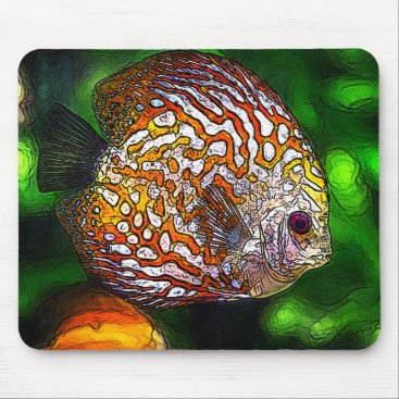 McTiffany Tiffany Aqua Discus_20170601_by_JAMColors Mouse Pad