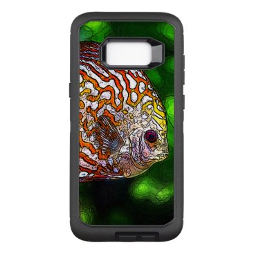 McTiffany Tiffany Aqua Discus_20170601_by_JAMColors OtterBox Defender Samsung Galaxy S8  Case