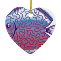 Discus Aquarium fish Ceramic Ornament