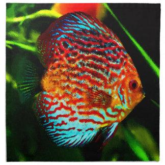 Discus fish design luxury set of napkins