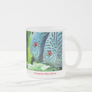 Discus fish frosted glass coffee mug