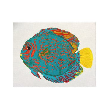 Beach Themed Discus fish print