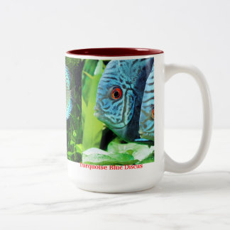 Discus fish Two-Tone coffee mug