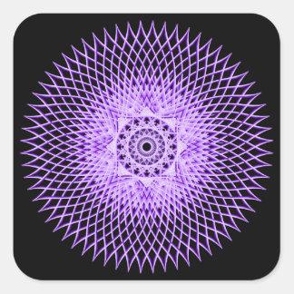 Discus Mandala Square Sticker
