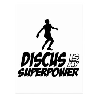 Discus my superpower postcard