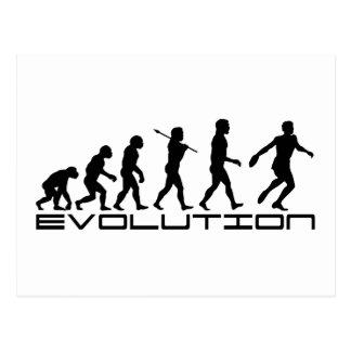 Discus Sport Evolution Art Postcard