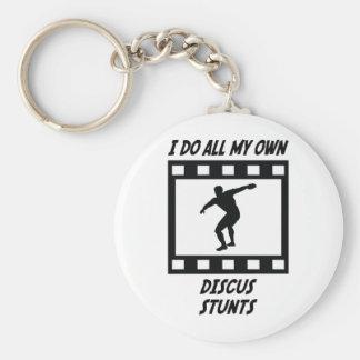 Discus Stunts Basic Round Button Keychain