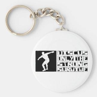 Discus Survive Basic Round Button Keychain