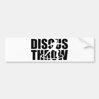 Discus throw bumper sticker