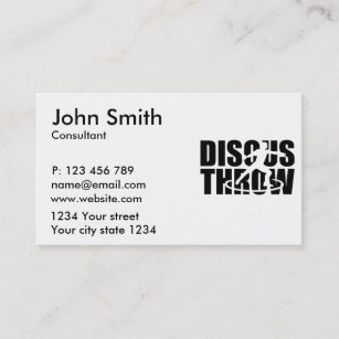 Track and field business cards zazzle discus throw business card colourmoves