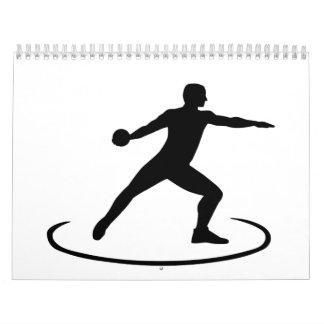 Discus throw calendar