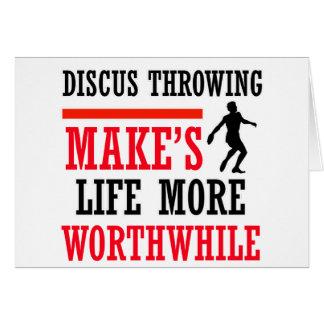 Discus Throw design Card