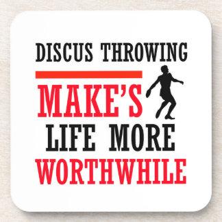 Discus Throw design Beverage Coasters