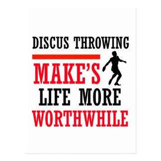 Discus Throw design Postcard