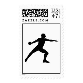 Discus throw postage