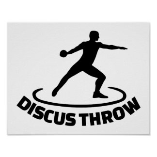 Discus throw poster