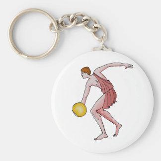 Discus Thrower 396 BC Basic Round Button Keychain