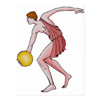Discus Thrower 396 BC Postcard