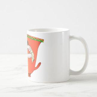 Discus thrower on pottery coffee mug