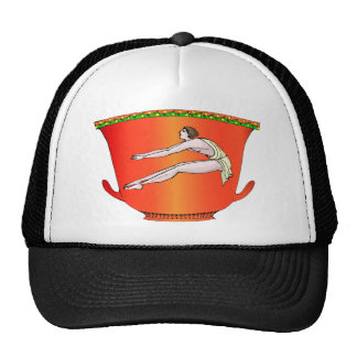 Discus thrower on pottery trucker hat