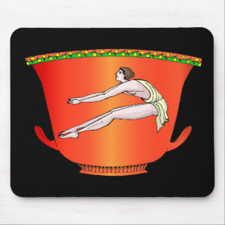 Discus thrower on pottery mouse pad