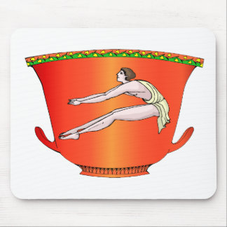Discus thrower on pottery mousepad
