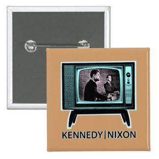 Discusión 1960 de Kennedy Nixon Pin Cuadrado