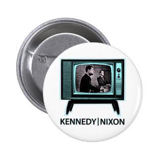 Discusión 1960 de Kennedy Nixon Pin Redondo De 2 Pulgadas