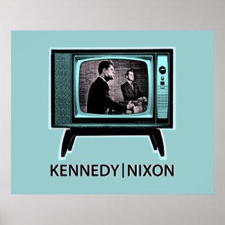Discusión 1960 de Kennedy Nixon Póster