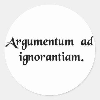 Discusión de ignorancia pegatina redonda