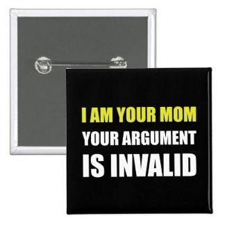 Discusión de la mamá inválida pin cuadrada 5 cm