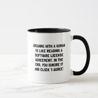 Discusión de la mujer