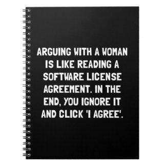 Discusión de la mujer cuadernos