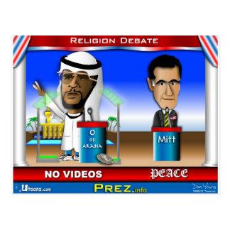 Discusión de la religión tarjeta postal