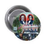 Discusión de Lincoln-Douglas de 1858 Pin Redondo De 2 Pulgadas