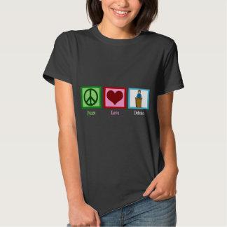 Discusión del amor de la paz camisas