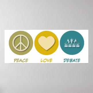 Discusión del amor de la paz póster