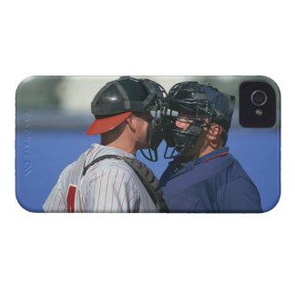 Discusión del colector y del árbitro del béisbol iPhone 4 cárcasa