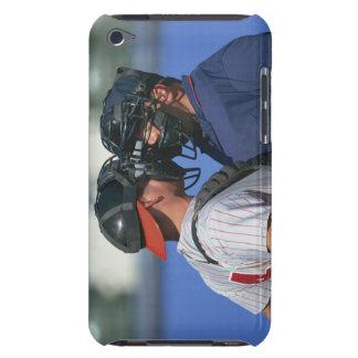 Discusión del colector y del árbitro del béisbol iPod touch cobertura