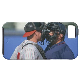 Discusión del colector y del árbitro del béisbol iPhone 5 Case-Mate cárcasas