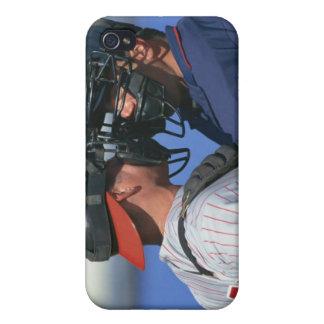 Discusión del colector y del árbitro del béisbol iPhone 4 funda