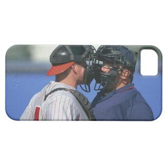 Discusión del colector y del árbitro del béisbol iPhone 5 fundas